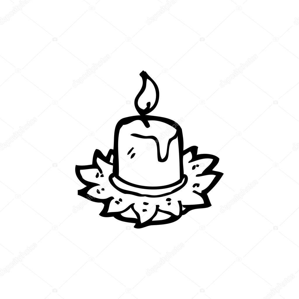 1024x1024 Melting Candle Cartoon Stock Vector Lineartestpilot
