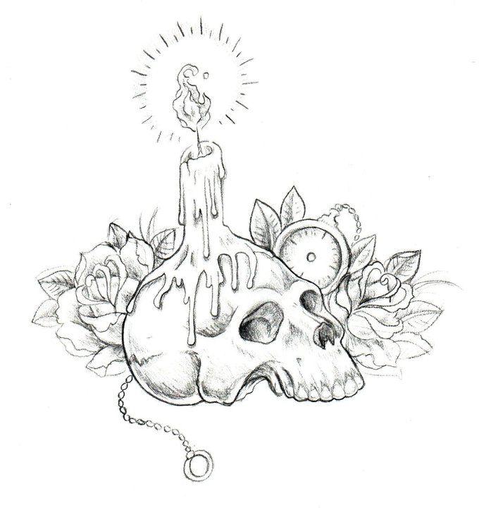 680x720 21 Best Melting Skull Sleeve Tattoo Designs Images
