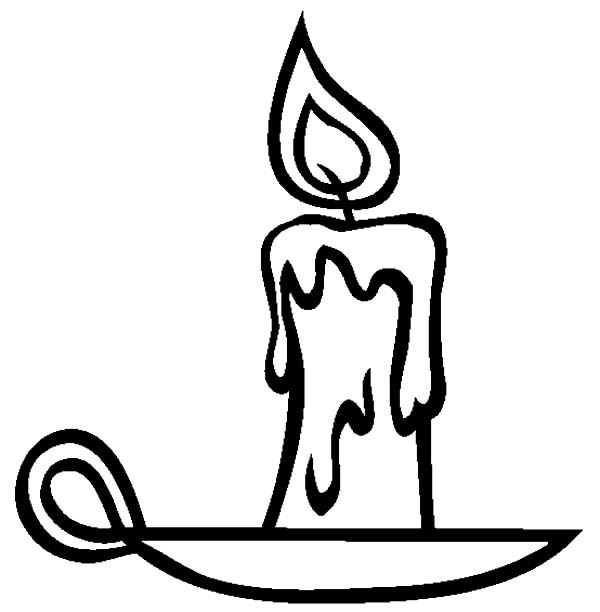 600x612 Coloring Page. Holiday Candle Printable Coloring Page. Candle