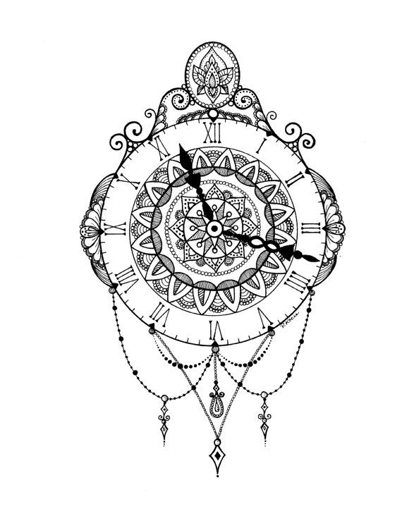Melting Clock Drawing