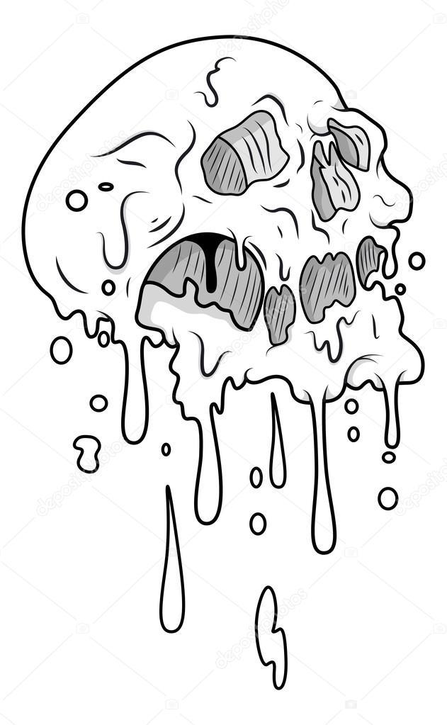 631x1023 Melting Skull Vector Stock Vector Baavli