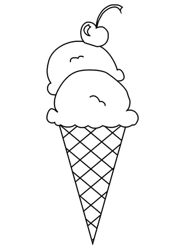It is a photo of Exceptional Icecream Cone Coloring Pages