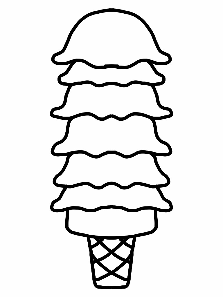 768x1024 Bampw Clipart Ice Cream