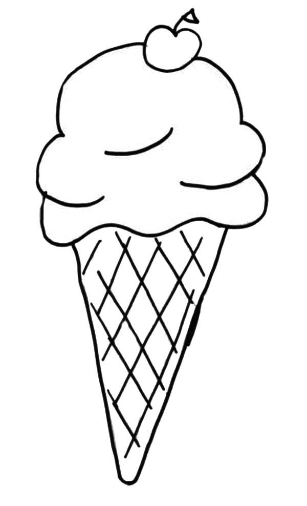 600x988 Unique Ice Cream Cone Coloring Sheet Also Melting