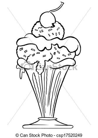 334x470 Drawing Of Ice Cream Sundae
