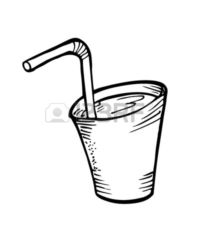 396x450 Hand Drawn Ice Cubes. Black And White Vector Illustration