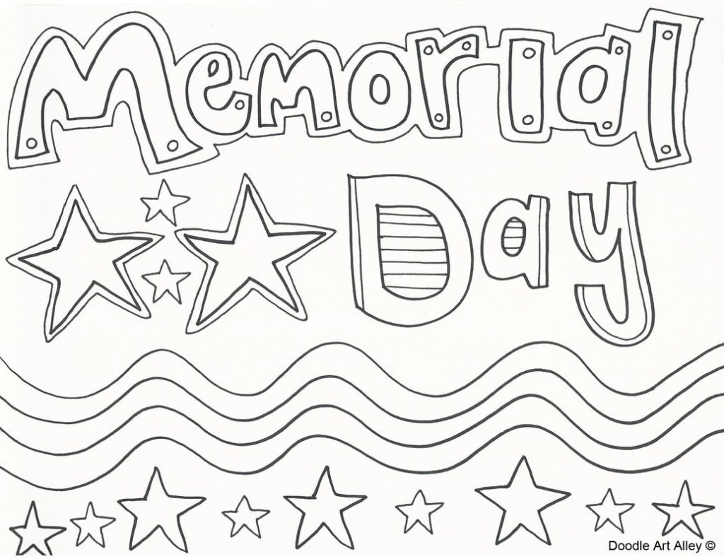 memorial day coloring pages printable - photo#1