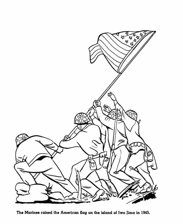 600x734 Drawn American Flag Memorial Day