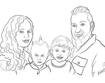 340x270 Handmade Portrait Drawing Etsy