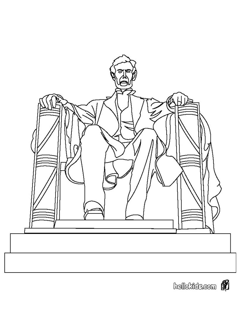 820x1060 Lincoln Memorial Coloring Sheet Abraham Lincoln Memorial