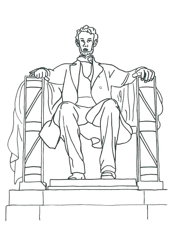 600x849 Beautiful Lincoln Memorial Coloring Page Online Pages