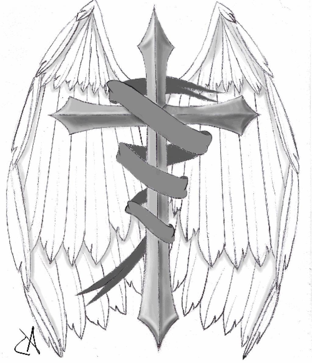 1024x1191 Memorial Cross Tattoos Drawing