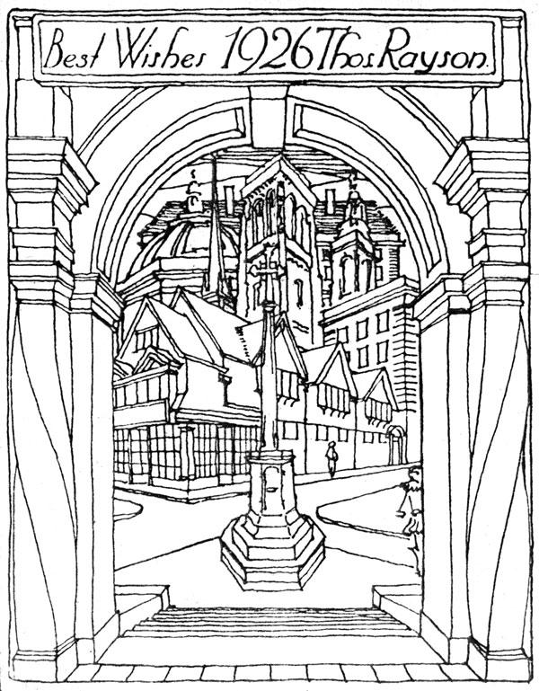 600x769 Oxford War Memorial, St Giles