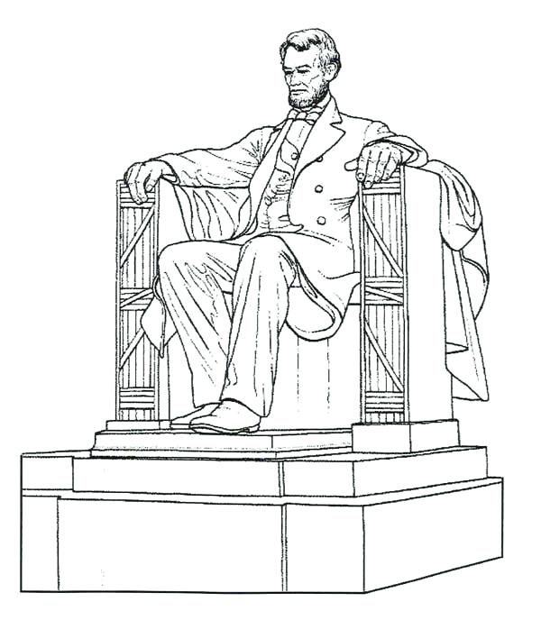 600x688 Abraham Lincoln Coloring Pages