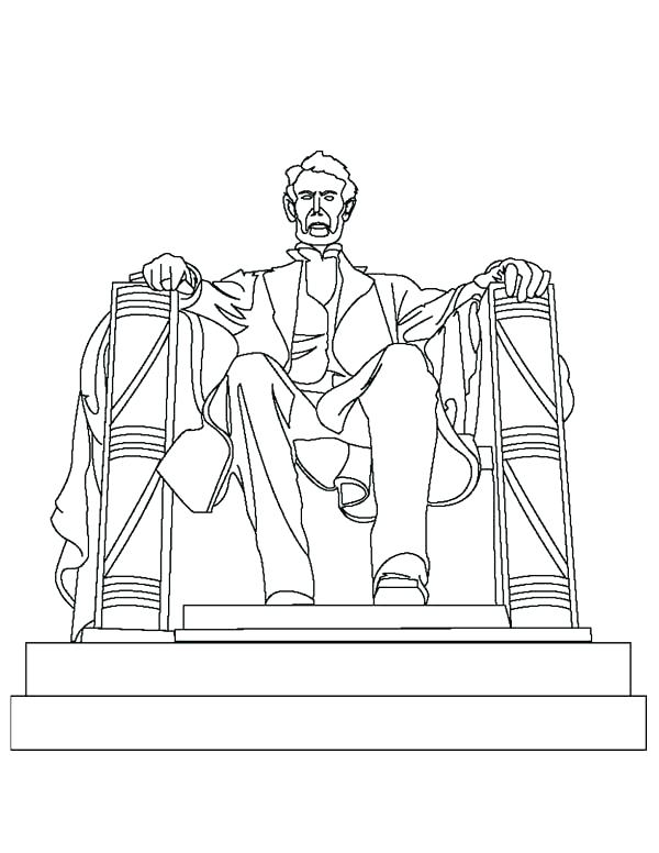 600x776 Lincoln Memorial Coloring Page