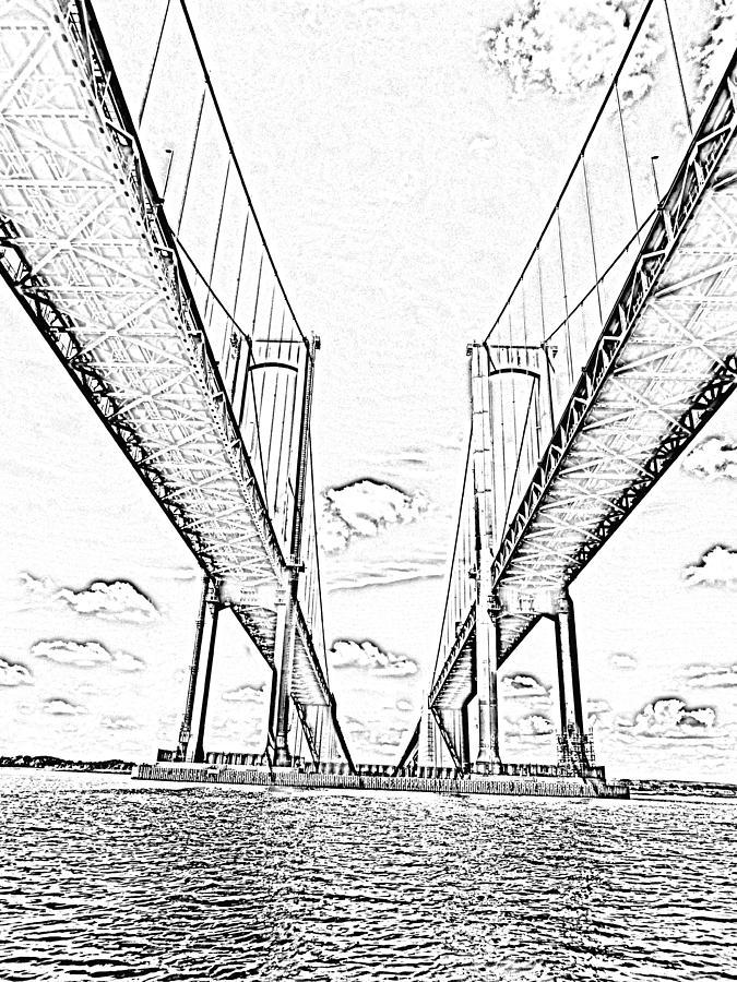 675x900 Delaware Memorial Bridge Photograph By Bruce Burk
