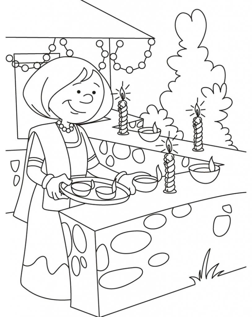 814x1024 Diwali Festival Memory Drawing Sketches Diwali Festival Draw