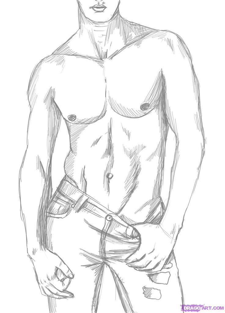 736x1021 How To Draw A Sexy Man Tutorial. Ridiculous But Pointful