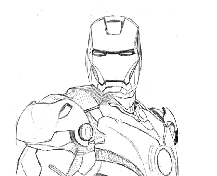 739x600 Iron Man Pencil Stage By Psychoticorangejuice