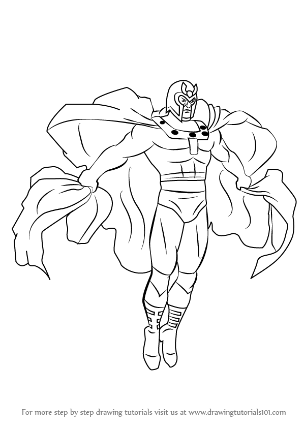 598x844 Learn How To Draw Magneto From X Men (X Men) Step By Step