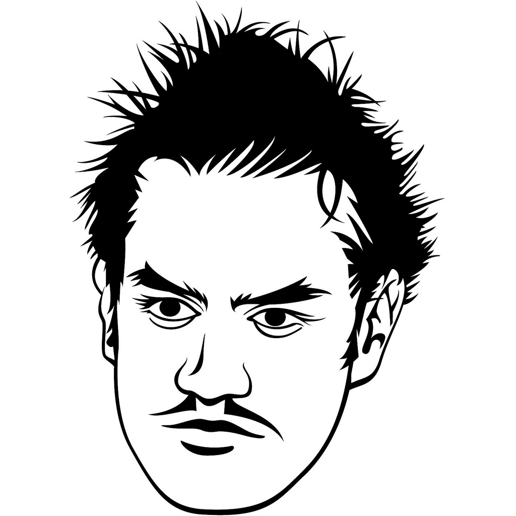 1024x1024 Men Face Black And White Drawing