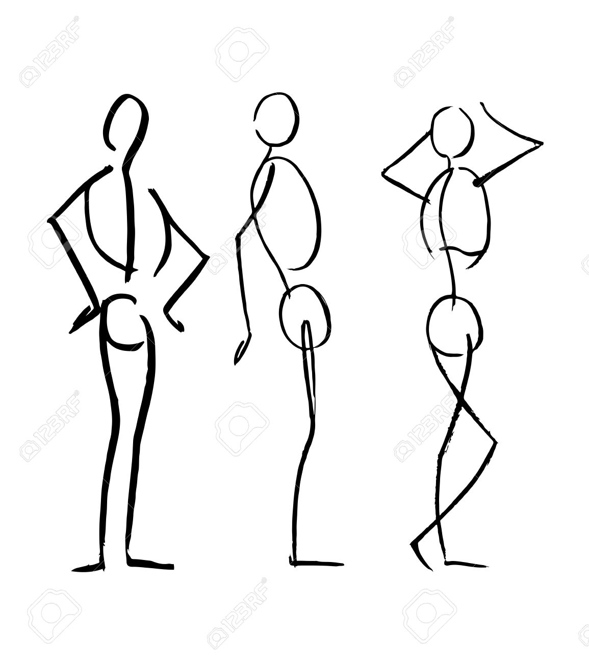 1155x1300 Hand Drawn Vector Illustration Or Drawing Of Different Men Human