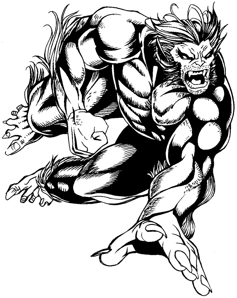 800x1007 How To Draw Beast From Marvel's X Men Superhero Team Drawing