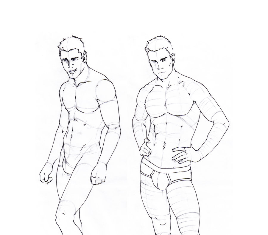 900x788 Male Body Sketches By Gruenedroehnung