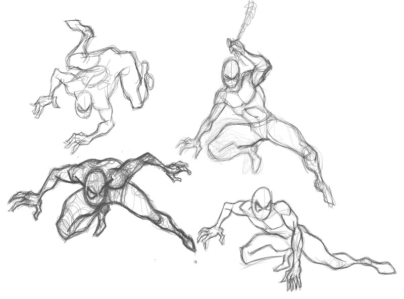 800x592 Designinfusion Spider Man Sketches