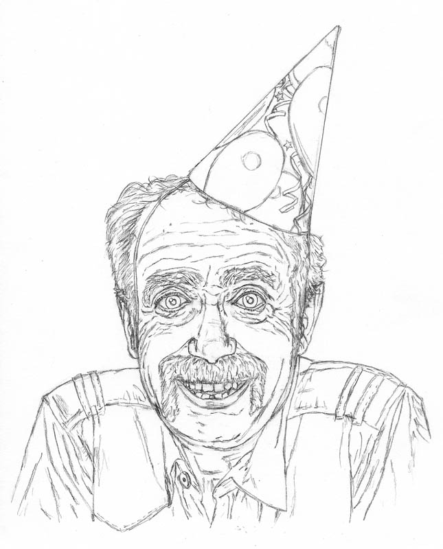 645x800 How To Draw An Old Man On His Birthday Let's Draw People