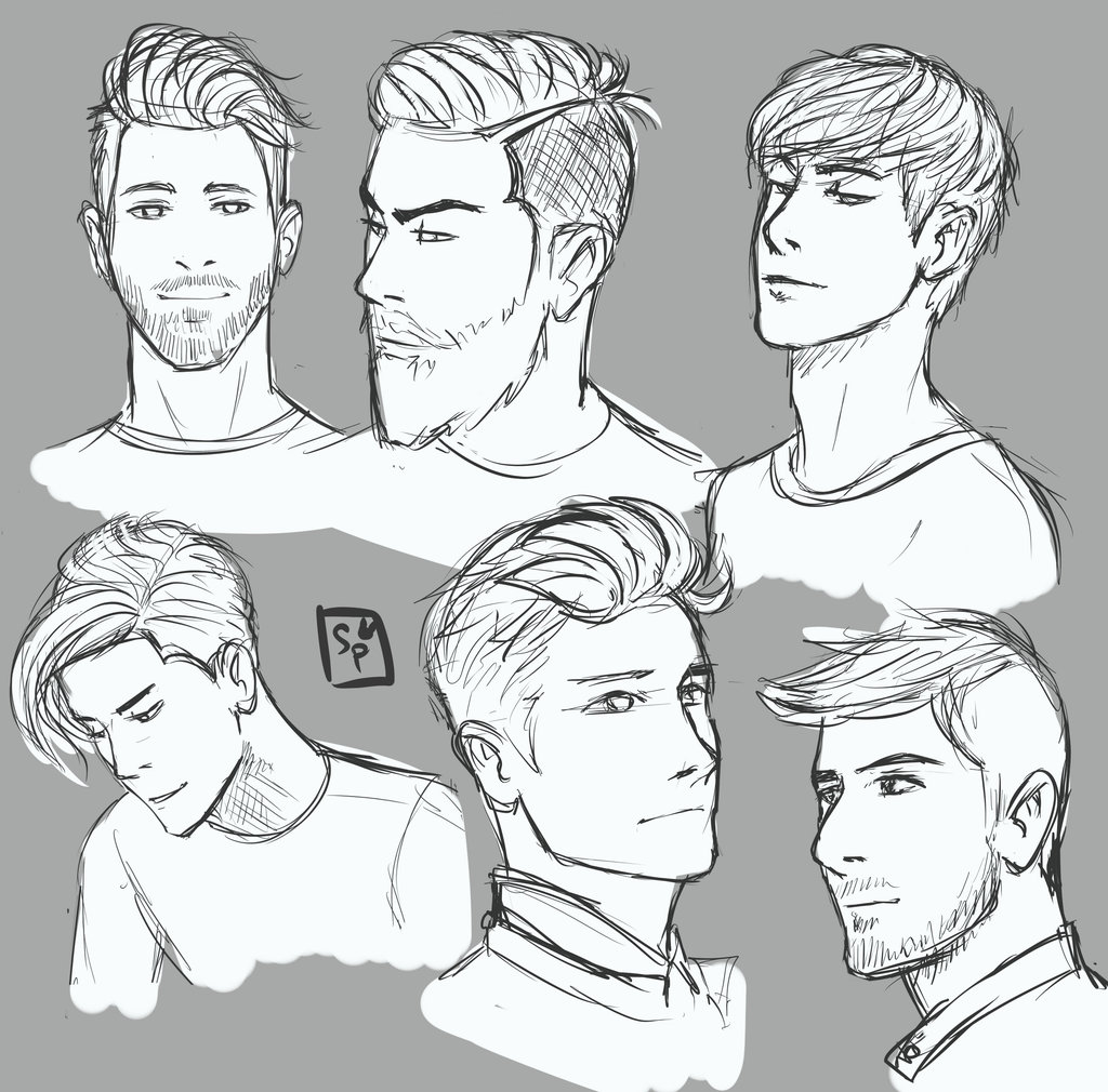 Men Hair Drawing at GetDrawings | Free download