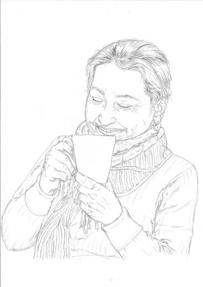 709x1000 How To Draw A Lady Drinking A Hot Beverage Let's Draw People