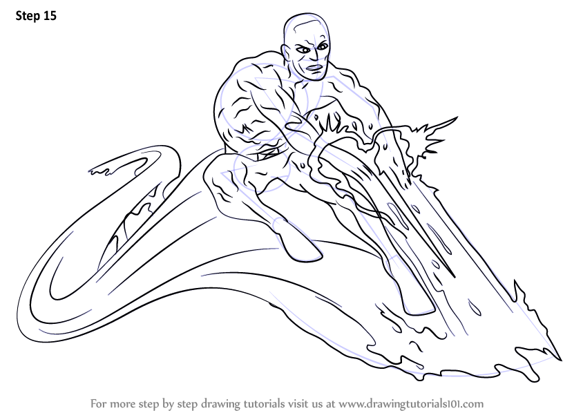 844x598 Learn How To Draw Iceman From X Men (X Men) Step By Step Drawing