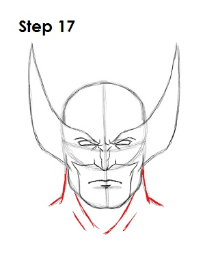 300x388 Draw Wolverine Step 17 Drawing Tutorial Drawings