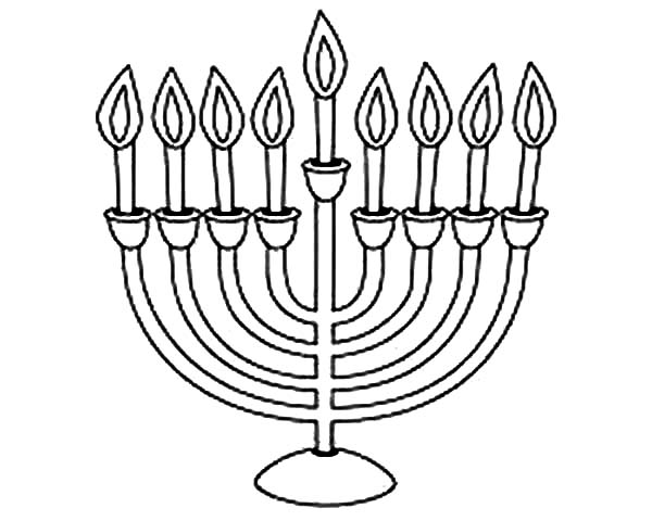 600x480 Menorah Coloring Page Chanukah Menorah Colouring Page Colouring