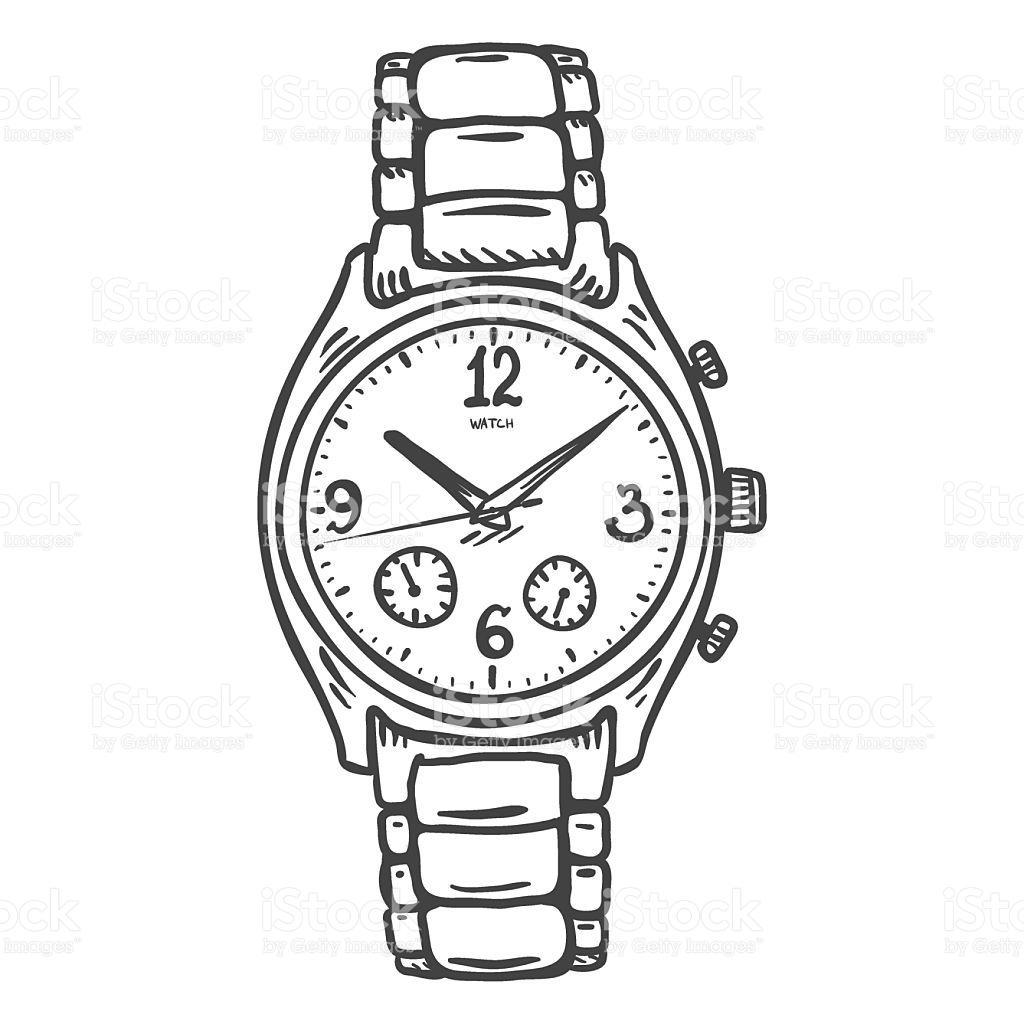 1024x1024 Gallery Wrist Watch Drawing,
