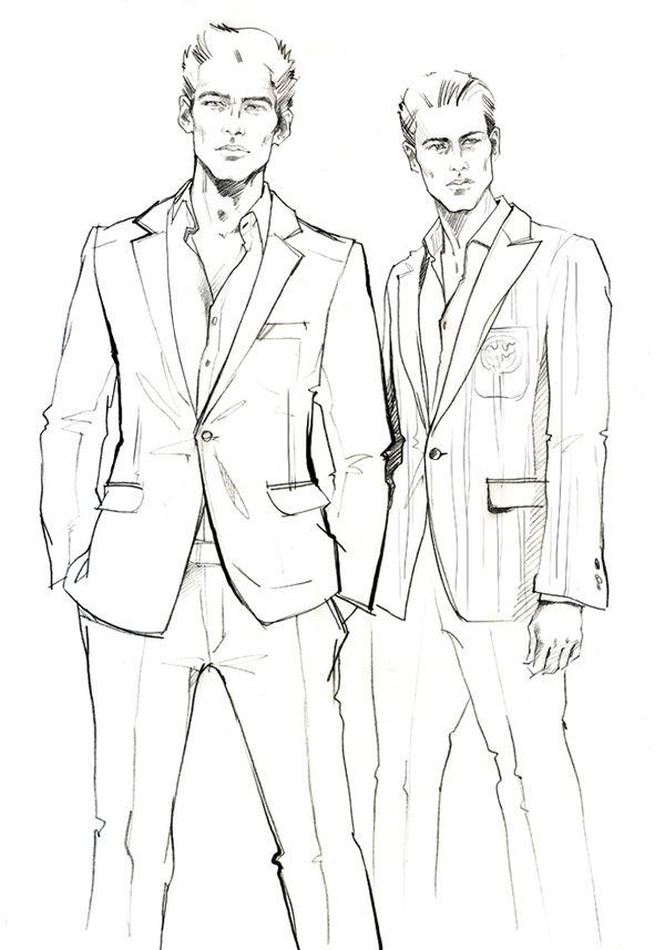 600x857 Male Fashion Drawing Fashion Design Images
