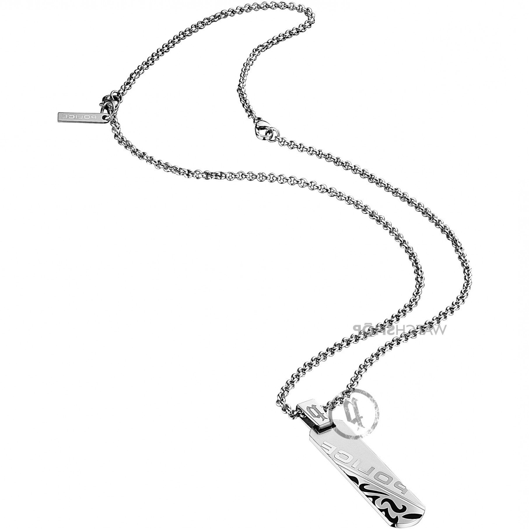1814x1814 Mens Police Stainless Steel Duality Necklace Psb P Ksvhs Jewellery