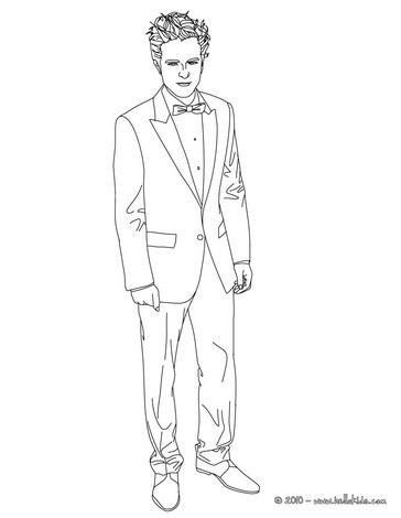 364x470 Robert Pattinson In Men's Suit Coloring Pages