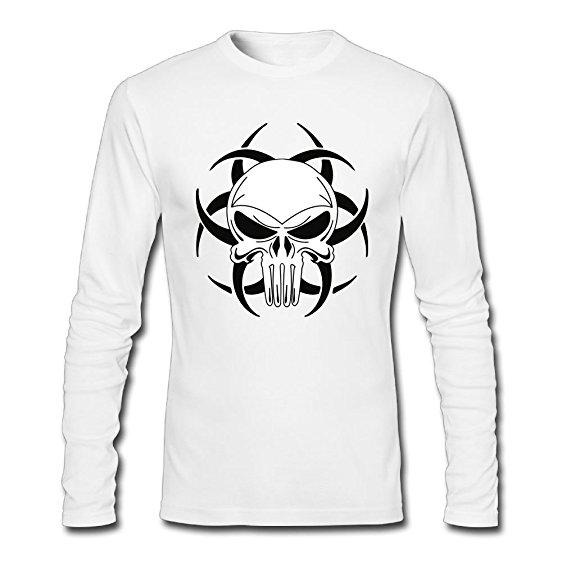 562x562 Zeng Tribal Skull Drawings Men's Tagless Long Sleeve T Shirt Adult