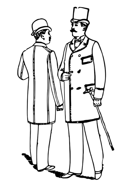 531x750 Coloring Page Men's Clothing 1892