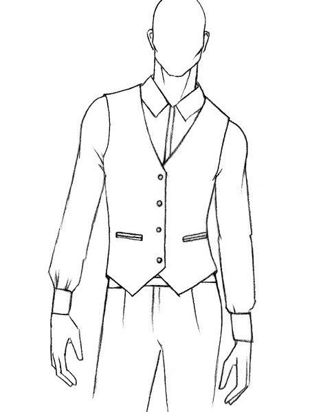 470x600 Fifi Tailored Mens Waistcoat