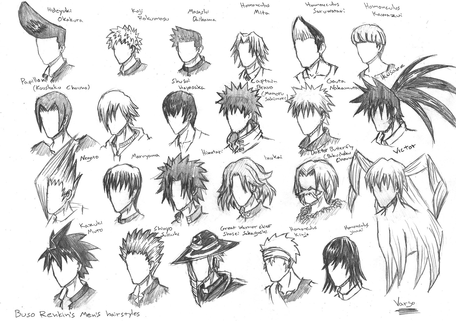 1500x1055 Anime Guy Hairstyles Drawing Different Anime Hairstyles Fade