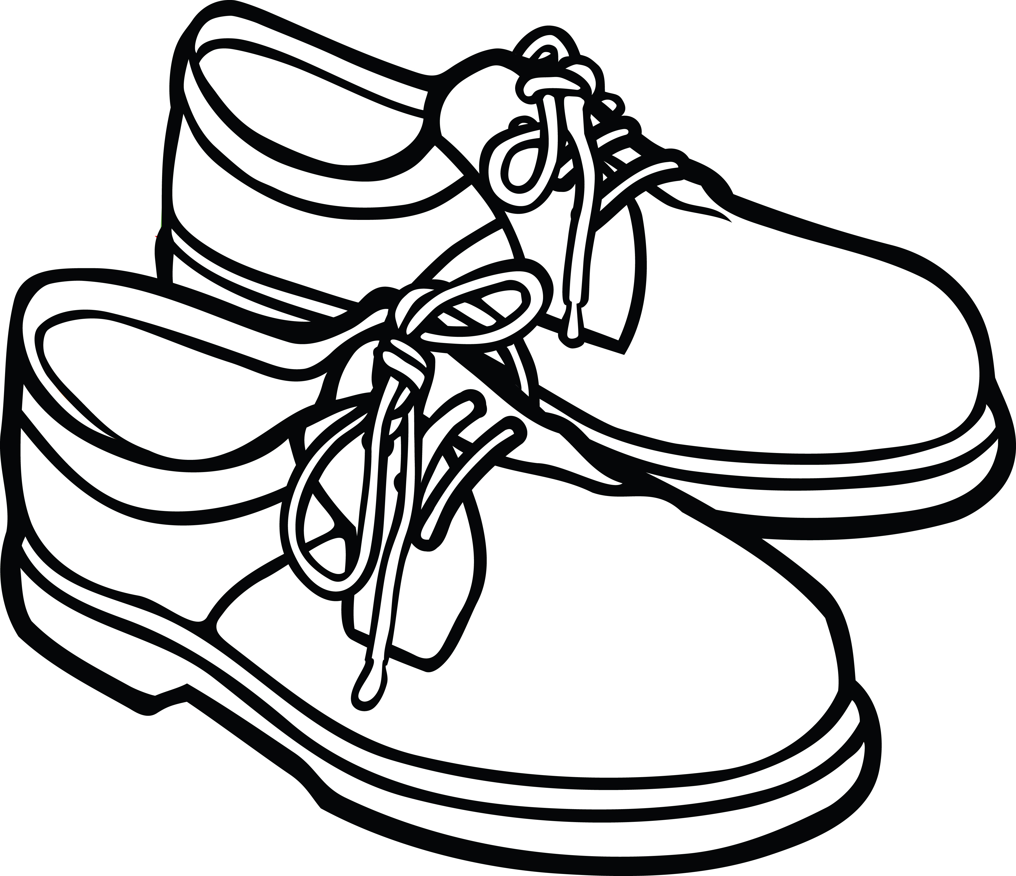 4000x3446 Clipart Of A Pair Of Mens Shoes