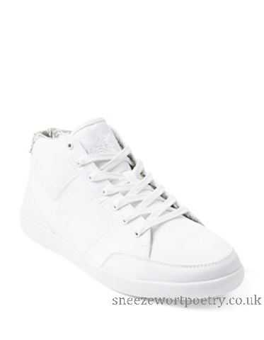 373x480 Men's White Men's Shoes Boxfreshcheam Solid Mid Top Sneakers