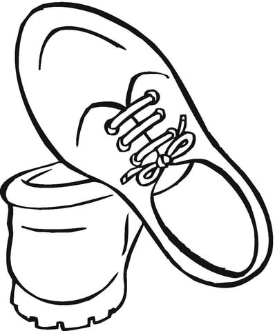 398x480 Shoes For Men Coloring Page Free Printable Coloring Pages