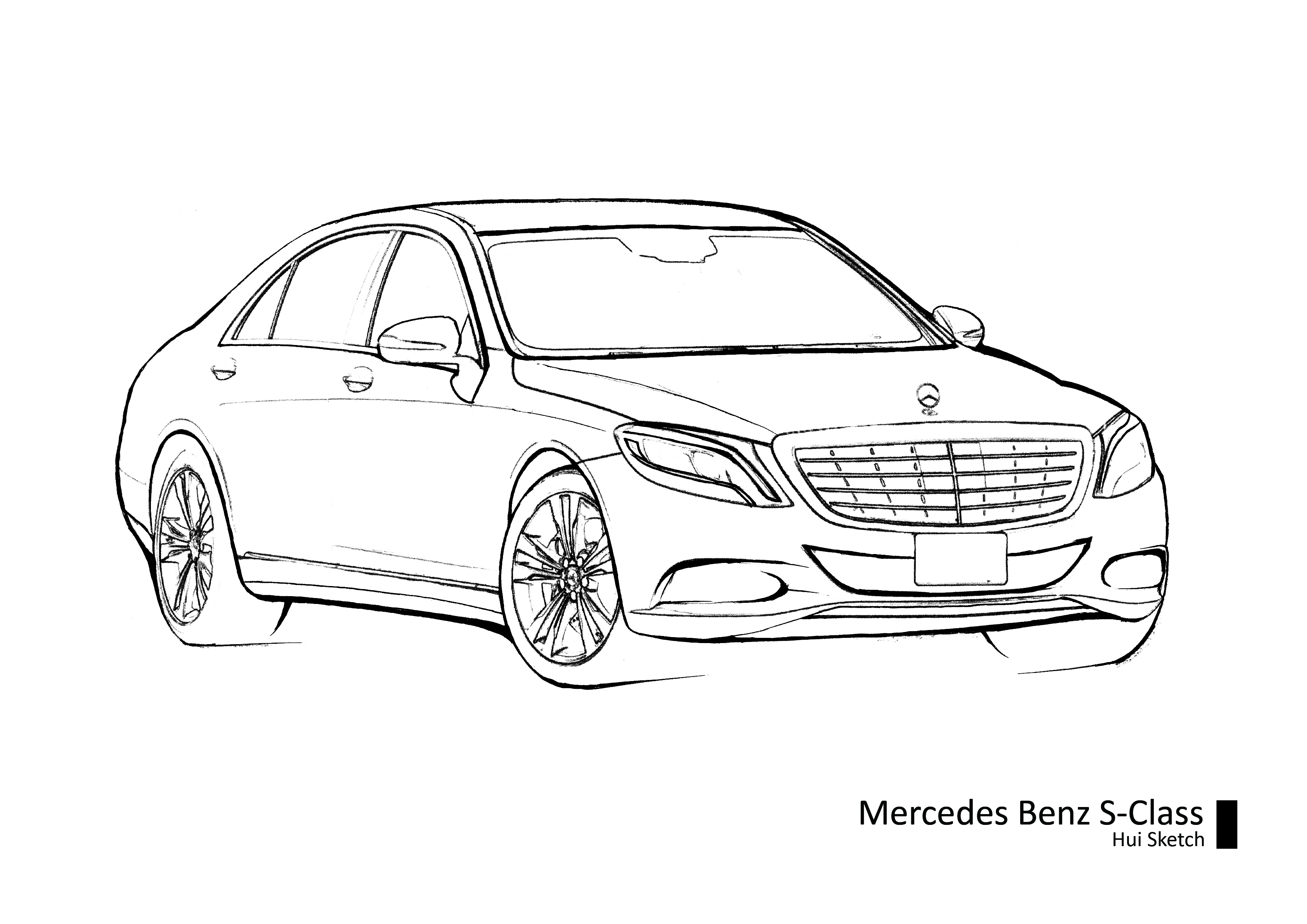 Ausmalbilder Autos Mercedes : Mercedes Benz Drawing At Getdrawings Com Free For Personal Use