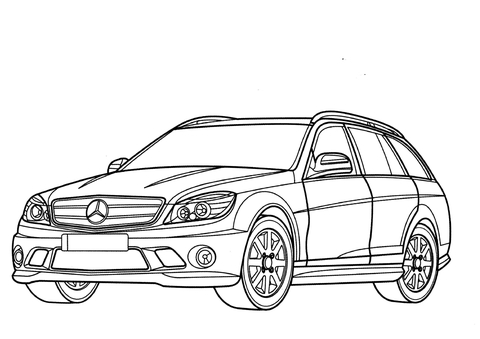 480x339 Mercedes Benz C Class Wagon Coloring Page Free Printable
