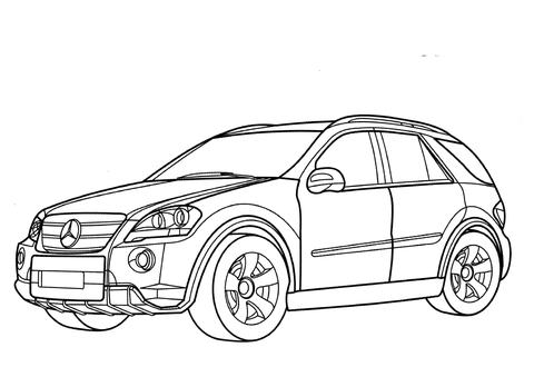480x339 Mercedes Ml Class Coloring Page Free Printable Coloring Pages