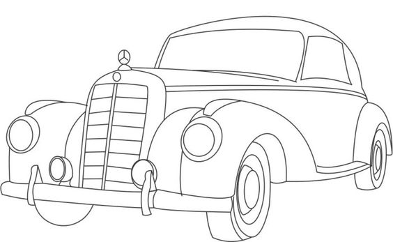 564x347 Mercedes Benz Sport Coloring Page